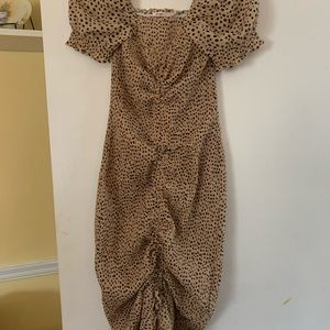 Animal print dress for night out/summer wedding